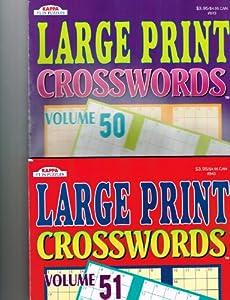 Large Print Crosswords 2 Volume Set (48 & 49)