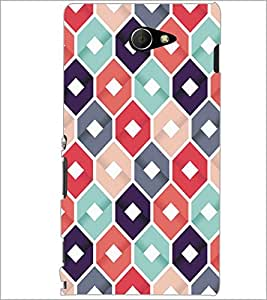 PrintDhaba Pattern D-5286 Back Case Cover for SONY XPERIA M2 (Multi-Coloured)