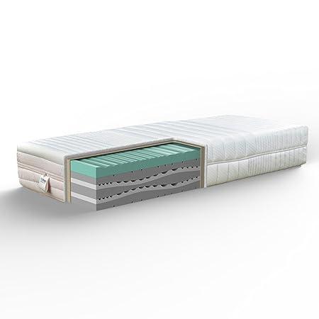 Joyshop Olimpo Matratze fur Einzelbett, mit Wellenprofil aus synthetischem Memoryschaum 200x80x29 cm Gepunktet