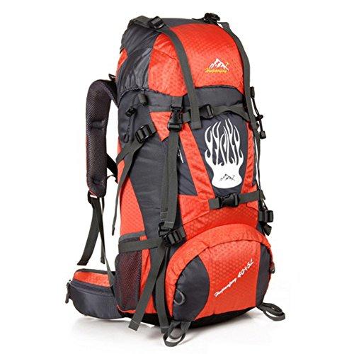 Grand sac de capacité / alpinisme sac à dos / extérieur sac de sport / sac de Voyage-Orange 60L