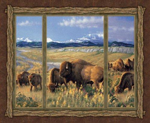 matelassage-buffalos-panneaux-a-suspendre-en-coton-motif-ailes-de-bison