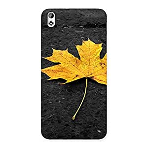 Yellow Lovely Leaf Back Case Cover for HTC Desire 816s