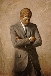 Cartoon world P0165 John F Kennedy White House Portrait JFK Thinking Offical Cool Poster 24x32 inch