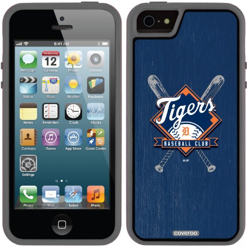 Great Sale Detroit Tigers - Bats design on a Black iPhone 5s / 5 Guardian / Ruggedized Case by Coveroo