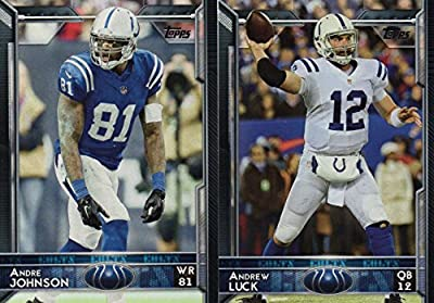 Indianapolis Colts 2015 Topps Complete Regular Issue 21 Card NFL Team Set Including 3 Different Andrew Luck Cards, Frank Gore and Others