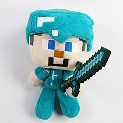 "Minecraft Steve Plush with Diamond Sword DIY Tutors 7"" Plush Toy by JTOYS"