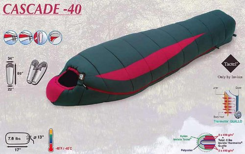 High Peak -40 Deg. Mummy Bag, 34″ Wide & 86″ Long, 2011 Model, 5 Warranty