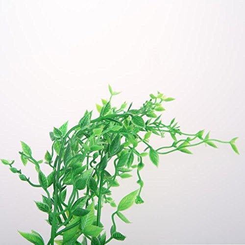 Vktech 10 pcs artificial plastic aquatic green water for Artificial pond plants sale