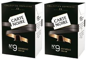 Carte Noire No.9 Intense Espresso Coffee Capsules, Compantible with Nespresso Machines (Pack of 2, 20 Capsules)