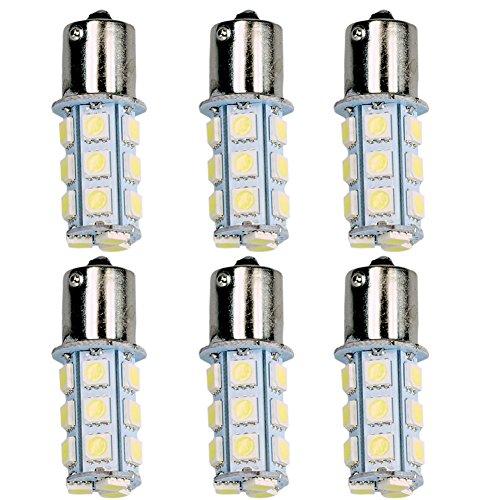 HOT SYSTEM™ ; 1156 7506 1003 1141 LED SMD 18 LED Bulbs Interior RV Camper White 6-pack