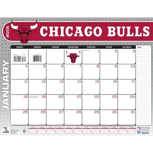 Turner Perfect Timing 2015 Chicago Bulls Desk Calendar, 22 X 17 Inches (8061433)