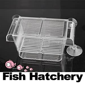 Vktech Fish Hatchery Aquarium Fish Tank Breeding Breeder Case Hospital for Baby Fish