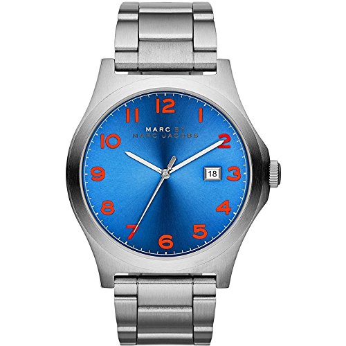 Marc Jacobs MBM5058 - Reloj para hombres, correa de acero inoxidable color plateado