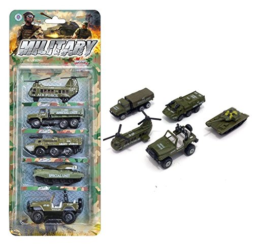 Vidatoy 5 Pcs Pull Back Cars Set Diecast Alloy Military Vehicles Playset for Kids (Diecast Military Tanks compare prices)