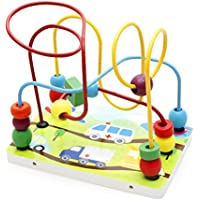 Joyeee® Multicolor Wooden Bead Roller Coaster Transportation Pattern - Early Education Toys For Your Kids - Perfect...