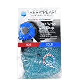TheraPearl Knee Wrap, Reusable Hot Cold Therapy Pack with Gel Beads