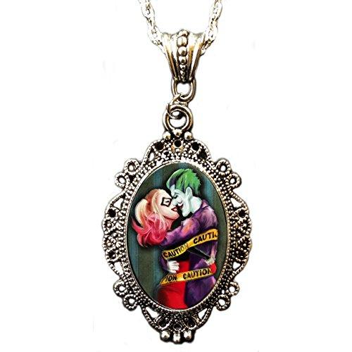 "Alkemie e Joker Harley Quinn ""Love Crazy-Collana con ciondolo a Cameo"