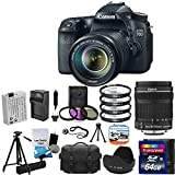 Canon EOS 70D 20.2 MP Digital SLR Camera with Dual Pixel CMOS AF Full HD 1080p Video with Movie +Canon EF-S 18-135mm f 3.5-5.6 IS STM + Extra Battery With Charger + 4 Piece Close-up Kit +UV Filter Kit with 64GB SD Card Complete Deluxe Accessory Bundle