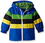 London Fog Baby Chest Stripe Poly Lined Jacket, Blue, 12 Months