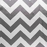 "ArtOFabric Long Chevron Satin Charmeuse Tablecloth 58""x108""Inch- Gray"