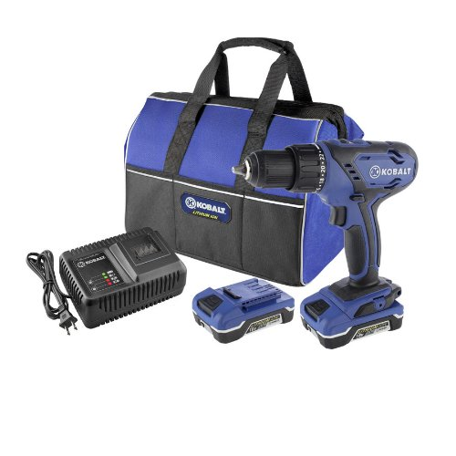 KOBALT 18V DRILL/DRIVER LITHIUM-ION KIT. #0239069 BOX.