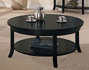 Coffee Table Contemporary Style Espresso Finish