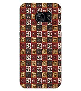 PrintDhaba Pattern D-5256 Back Case Cover for SAMSUNG GALAXY S7 (Multi-Coloured)