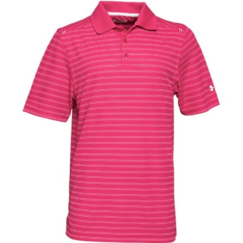 Under Armour Mens Heat Gear Core Pique Stripe Polo Rush