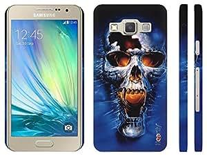 Heartly Skull Printed Designer Thin Hard Bumper Back Case Cover For Samsung Galaxy A7 SM-A700F - Sky Blue