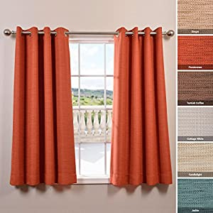 Bellino Grommet Blackout Curtain 63 Length Persimmon Orange