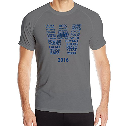 Men's 2016 Fly The W Players Together Running Short Sleeve Top Baselayer - Quick Drying Athletic Tee Shirt DeepHeather X-Large
