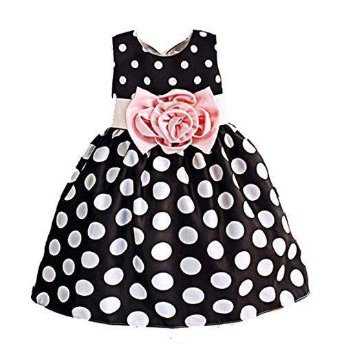 Zeagoo Kids Princess Girls Organza Polka Dot Special Occasion Dress Age. 2-11