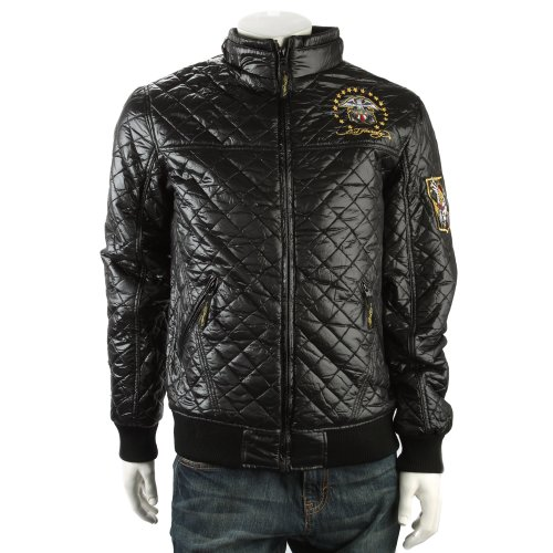 Ed Hardy Mens Born Free Quilted Jacket - Black