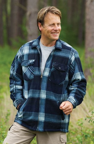 Mens Champion Elgin Country Clothing Sherpa Lined Printed Fleece Jacket Blue XL