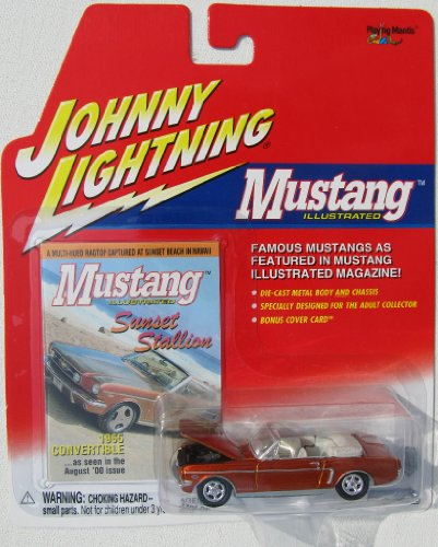 Johnny Lightning Mustang Illustrated 1965 Mustang Convertible Copper