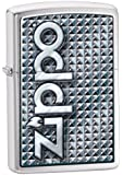 Zippo 3D Abstract 1 Lighter (Silver, 5 1/2x3 1/2-Cm)