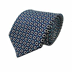Rossini Men's Tie (UFAM21_Blue_Free Size)