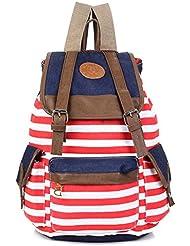 Santimon - Unisex Fashionable Canvas Backpack School Bag Super Cute Stripe School College Laptop Bag For Teens... - B00Q8OTQPC