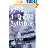 WRD 110-202 Syllabus: Crack the WRD 110-202 Syllabus Quiz