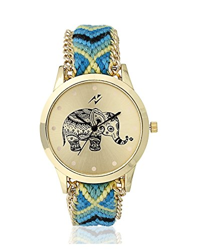 Yepme Women's Ribbon Watch – Gold/Blue
