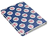 Trendz Universal Folio Case Cover with Built-In Stand and Closing Strap for 6-8 inch Tablets Compatible with iPad Mini, Google Nexus 7, Samsung Galaxy Tab 2/3/4 and Kindle Fire HD/HDX 7.0 - Floral Blue