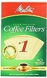 40PK #1 BRN Cone Filter