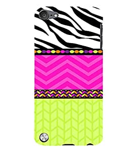 PrintVisa Chevron Dots Stripes Pattern 3D Hard Polycarbonate Designer Back Case Cover for Apple iPod Touch 5