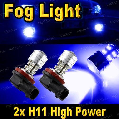 2 Pcs Ultra Blue H11 20-Smd High Power Led Headlight Bulbs For Driving Fog Light / Day Time Running Light Drl