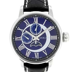 [スバルバル]SVALBAL 腕時計 5BAR N夜光 ムーンフェイズ SV03-LBL メンズ
