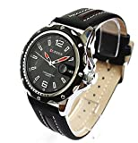 Curren Men Brown Leather Watch