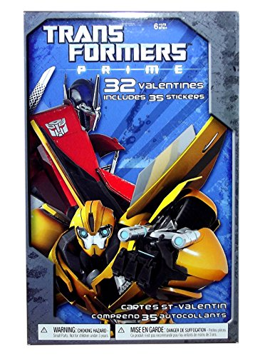 TRANSFORMERS PRIME 32 VALENTINES WITH STICKERS