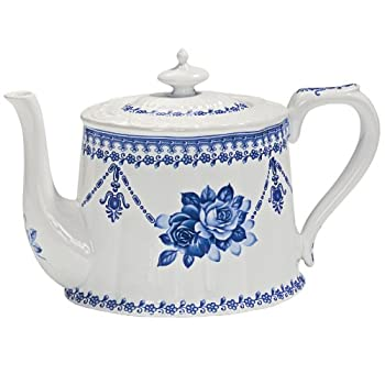 Blue Garland Teapot