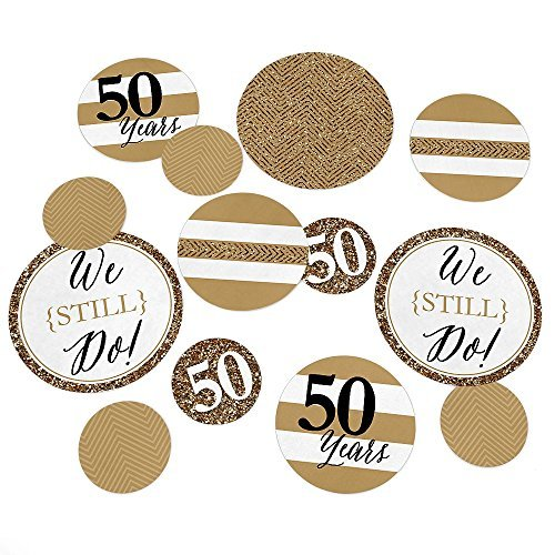 We Still Do - 50th Wedding Anniversary Party Table Confetti Set - 27 Count