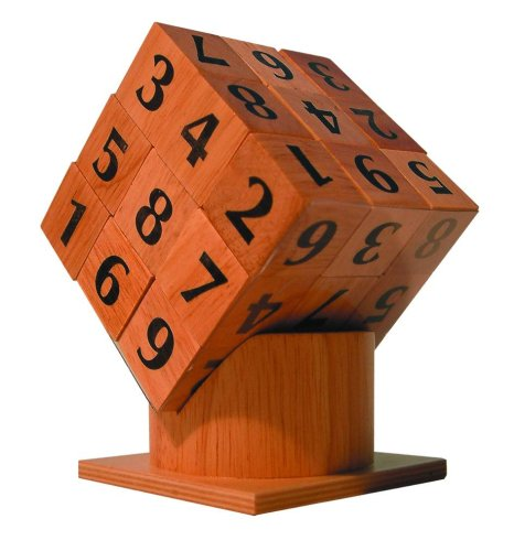 Family Games : 3D wooden Sudoku Cube puzzle